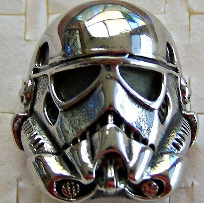 Size:12 ~ Stormtrooper ~ Stainless_Steel  ~ Ring -- (Great_Christmas_Gift)