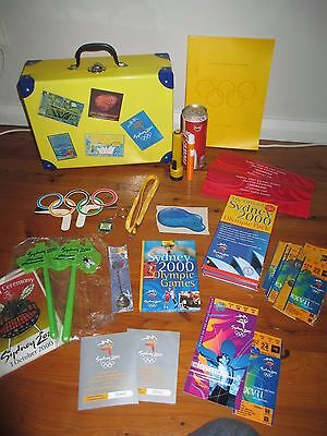 Sydney 2000 Olympics - Opening Ceremony Vintage Style Suitcase + Contents
