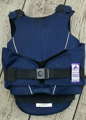 child horse riding body protector, blue. BETA 2009 Level 3