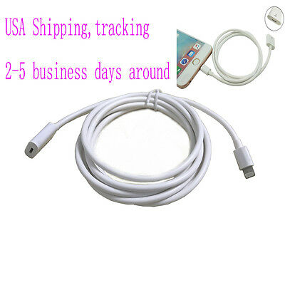 2m Lightning extension cable pass video audio for Iphone 8 7 7 plus 6 6S plus