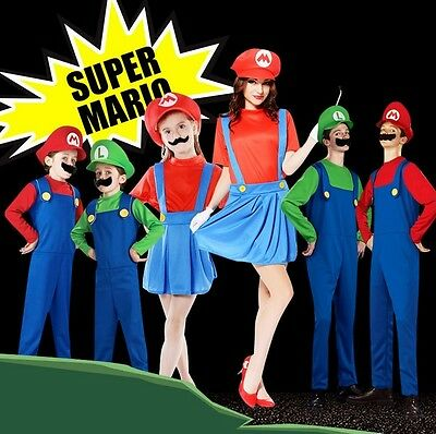 Super Mario Brothers Women Men Boys & Girls Costumes for Dress up All Ages