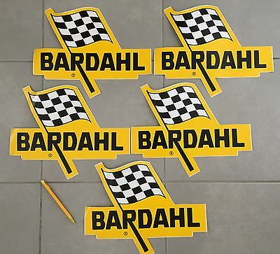 Lot X 5 Large Sticker Bardahl Autocollant Adesivo Grand Format