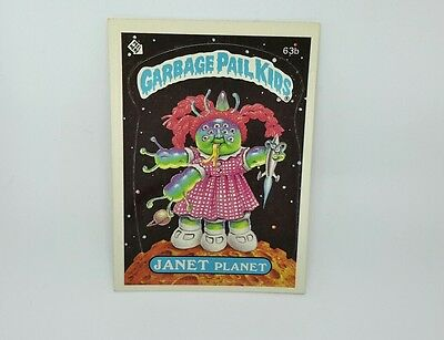 "Garbage Pail Kids ""JANET PLANET"" 1985 TOPPS CHEWING GUM, INC PRTD IN U.S.A."