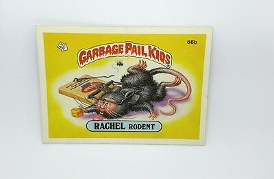 """US Garbage Pail Kids """"RACHEL RODENT"""" 66b TOPPS CHEWING GUM, INC. PRTD. IN U.S.A."""