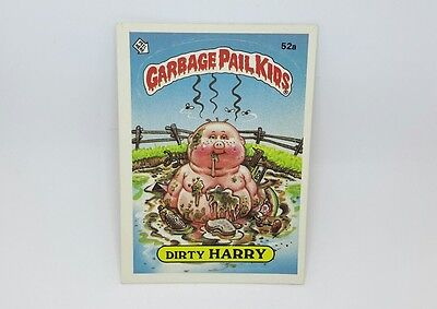 """US Garbage Pail Kids """"DIRTY HARRY"""" 1985 TOPPS CHEWING GUM, INC PRTD IN U.S.A."""
