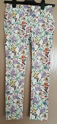 NEXT Girls floral tappered pants 10years