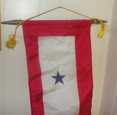 WWII Son in Service flag banner with one star