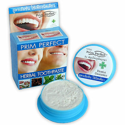 25g Thai Natural Herbal Toothpaste PRIM PERFECT Amazing Strong Formula