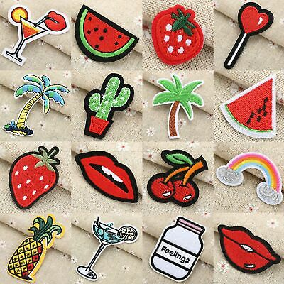 1/3pcs Iron On / Sew On  Patches Badge Fabric Applique Embroidered Clothes DIY