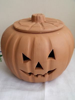 Large Terracotta Halloween Pumkin Jar
