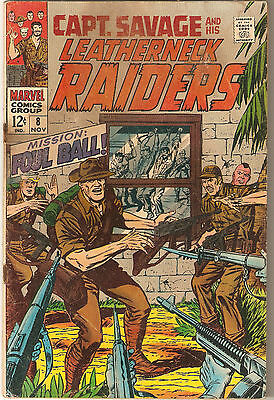 Captain Savage And His Leatherneck Raiders 8!  Cool Silver Age Marvel!  Look!