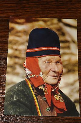 A wise old Lapp woman Lapland Finland Postcard
