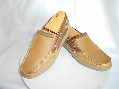 Men's Croft & Barrow British Tan Leather Casual Loafers Size 12 M