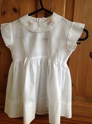 Pretty vintage childs kids girls white dress from Marshall & Snelgrove London