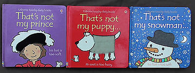 That's not my Puppy / Prince / Snowman Usborne touchy-feely books
