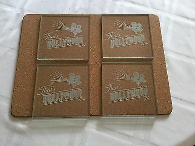 Set of 4 - Glass Drinks Coasters
