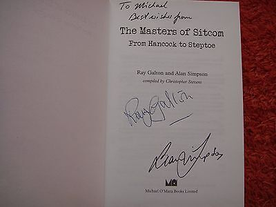 """RARE DOUBLE SIGNED BY GALTON &  SIMPSON- """"THE MASTERS OF SITCOM"""" (HB & 1st ED)"""
