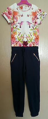 TED BAKER Girls floral jumpsuit 8-9years