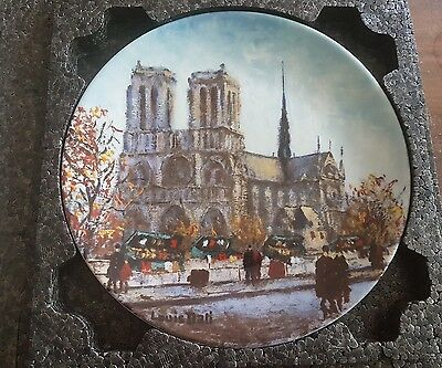 Parisian Places Louis Dali La Cathedrale Notre Dame Porcelain Premiere Limited