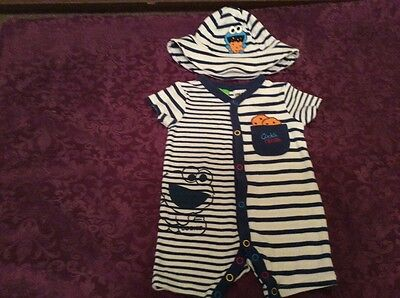 Cookie Monster summer outfit with matching hat size:000