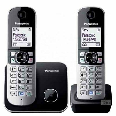 Panasonic KX-TG6812EB Twin Dect Cordless Home Telephone Set Caller ID - SILVER