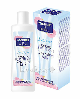Yoghurt Of Bulgaria Probiotic Cleansing Milk - Rose Oil, Yoghurt- Sensitive Skin