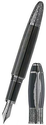 MB Defoe Fountain Pen Gray / black with white star