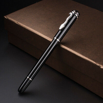 MB Fountain pen Snake Clip Black / silver Stainless Steel Nib ,5mm