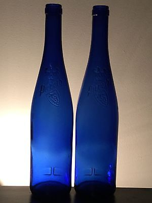 2 Great Looking Large Blue Bottles