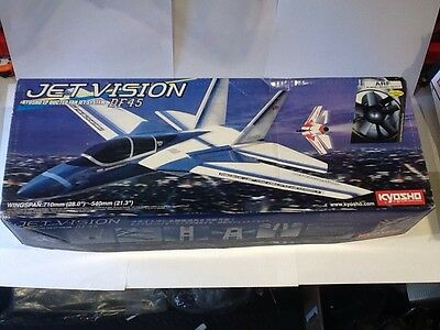 Kyosho Ep Jet Vision Df45 Ducted Fan Jet R/c Aeroplane Kit Nip No. 10117R