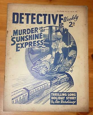 DETECTIVE WEEKLY No 232 31ST JULY 1937 MURDER ON THE SUNSHINE EXPRESS R HARDINGE