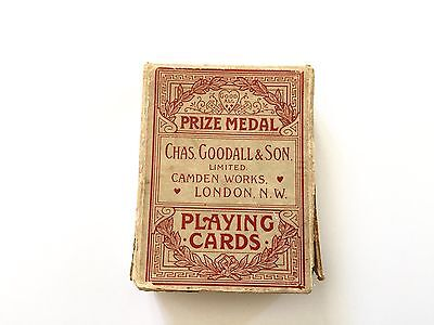 Goodall antique playing cards pack Lacquered Japonica 1890's