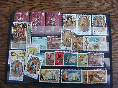 ANTIGUA  25  STAMPS  MNH /  MINT HINGED     inc DOUBLES ETC