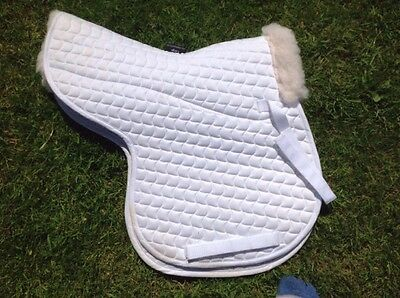 White Shires Part fleece lined Full numnah.