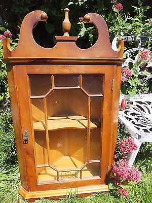 Antique Georgian Style Hanging Corner Cupboard Astragal Glazed  Veneered Pine