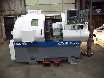 2000 Okuma Crown L1060 CNC Turning Center, Bar Chuck, OSP-U10L CNC Control