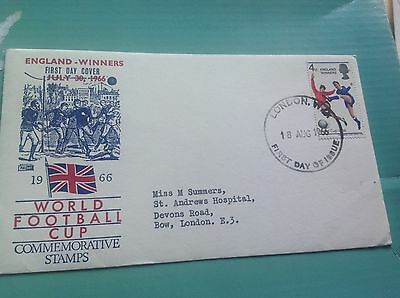 1966 World Cup Winners  London postmark First Day Cover