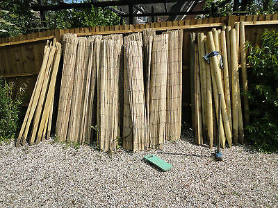 BAMBOO SCREENING ROLL Screen Fencing Garden Fence Panel Outdoor 4m Long x 180cm