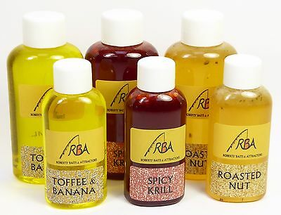 RBA Spicy Krill, Roasted Nut, Toffee Banana Glug Boilies Fishing Bait Attractant