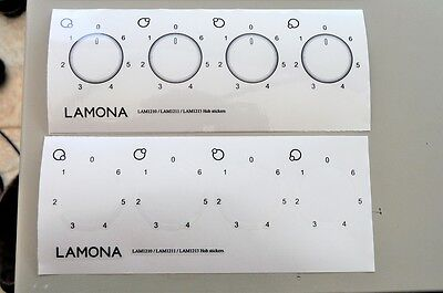 Universal 6-0 electric hob stickers for worn decals, fits many check sizes.