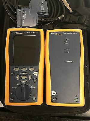 Fluke Networks DTX1800 DTX-1800  Cable Analyzer With Modules