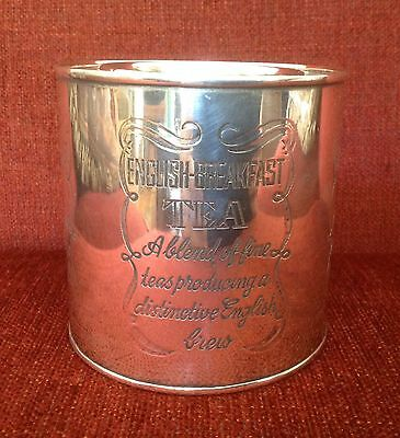 Silver plated tea bin / container / canister  (vintage but not antique)