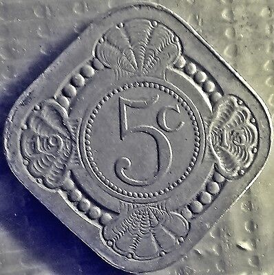 HOLLAND  NETHERLANDS  DUTCH  5  cents 1913   Square  VERY FINE  (7180)