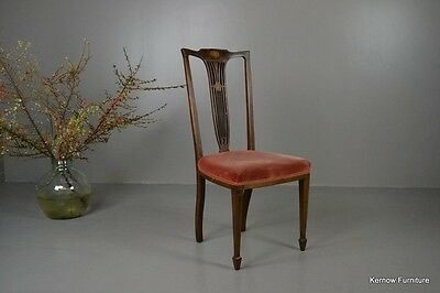 Antique Vintage Edwardian Inlaid Mahogany High Back Occasional Chair