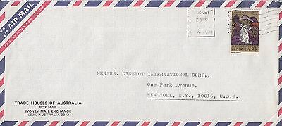 K 2060 Sydney air mail cover to USA; solo 1973 Xmas stamp usage