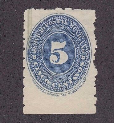Mexico 1887 Sc #204 numeral of value 5, MNG