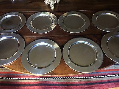 "8 Towle Silver Plate Chargers 11¾"" Diameter"