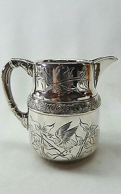 Antique Quadruple Embossed Creamer Jug