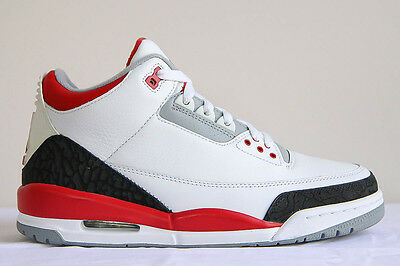 sale retailer 6e24a fc088 JORDAN RETRO III 3 Td Toddler 832033-120 Fire Red Grey Cement Infrared  Black Og