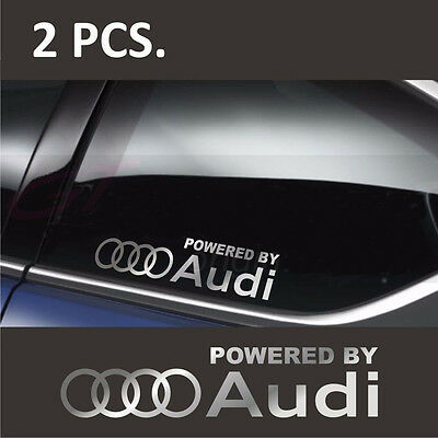2 PCs Car Truck Body Window Styling Windshield Decal Sticker Fit For Audi Auto